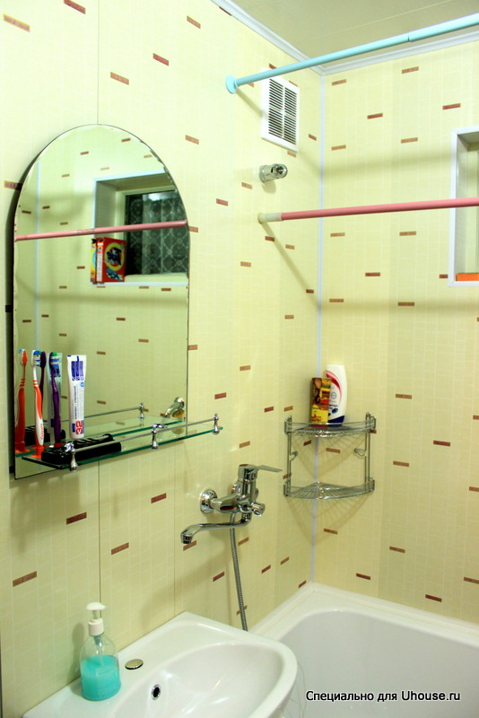 Дизайн ванны из панелей в хрущевках