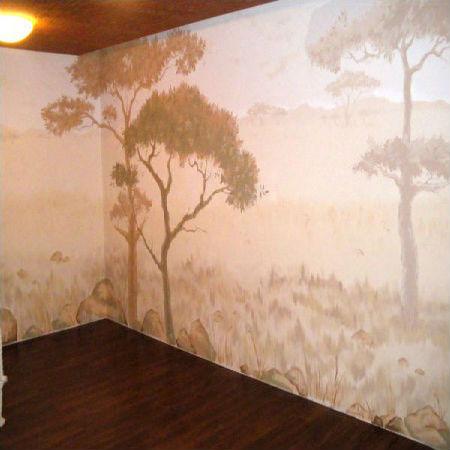 Богатое оформление стен