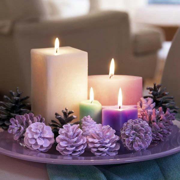 Новогодние композиции со свечами своими руками