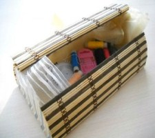 Ларец для рукодельницы из бамбуковой салфетки
