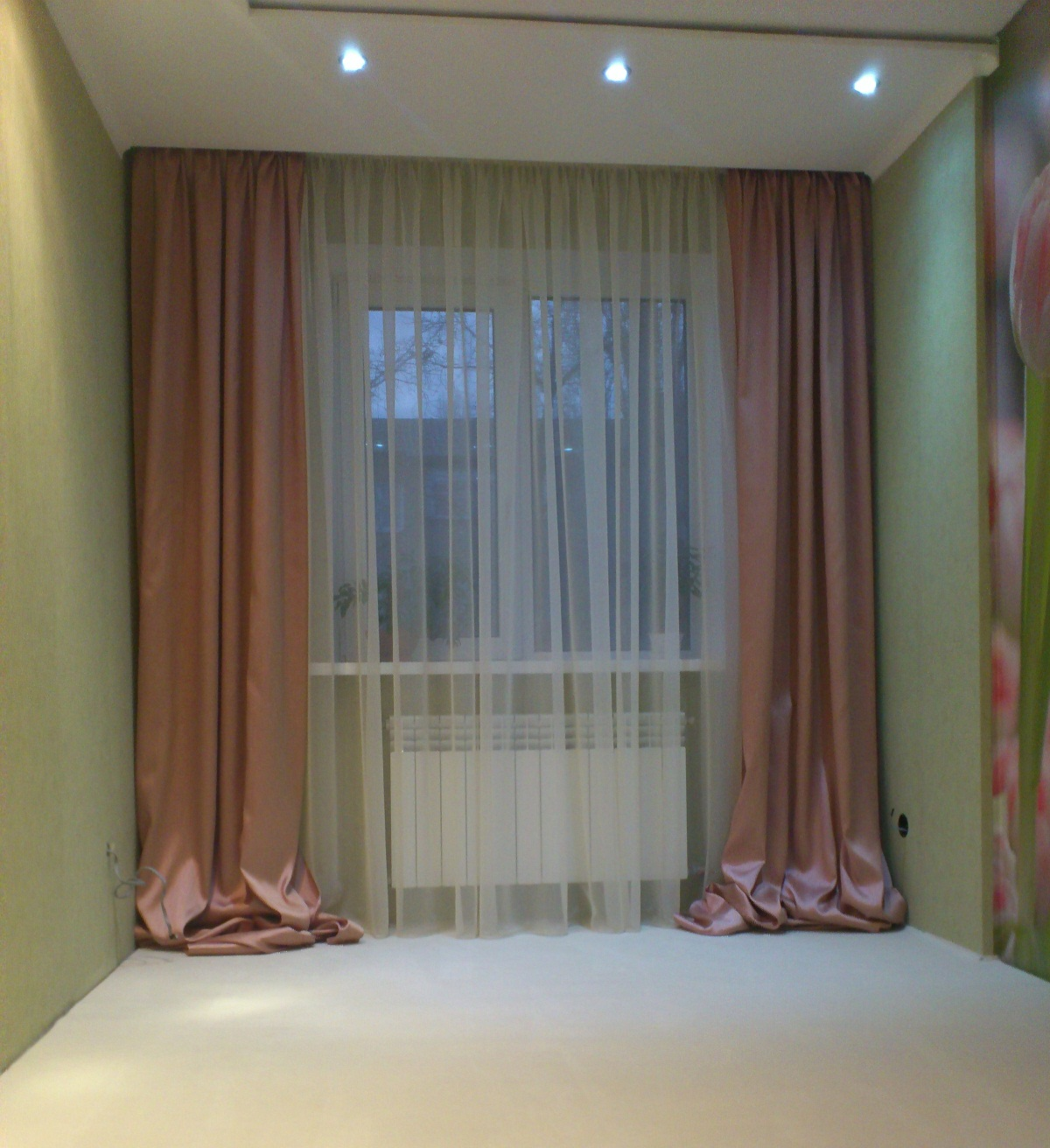 Шторы для розовой спальни фото