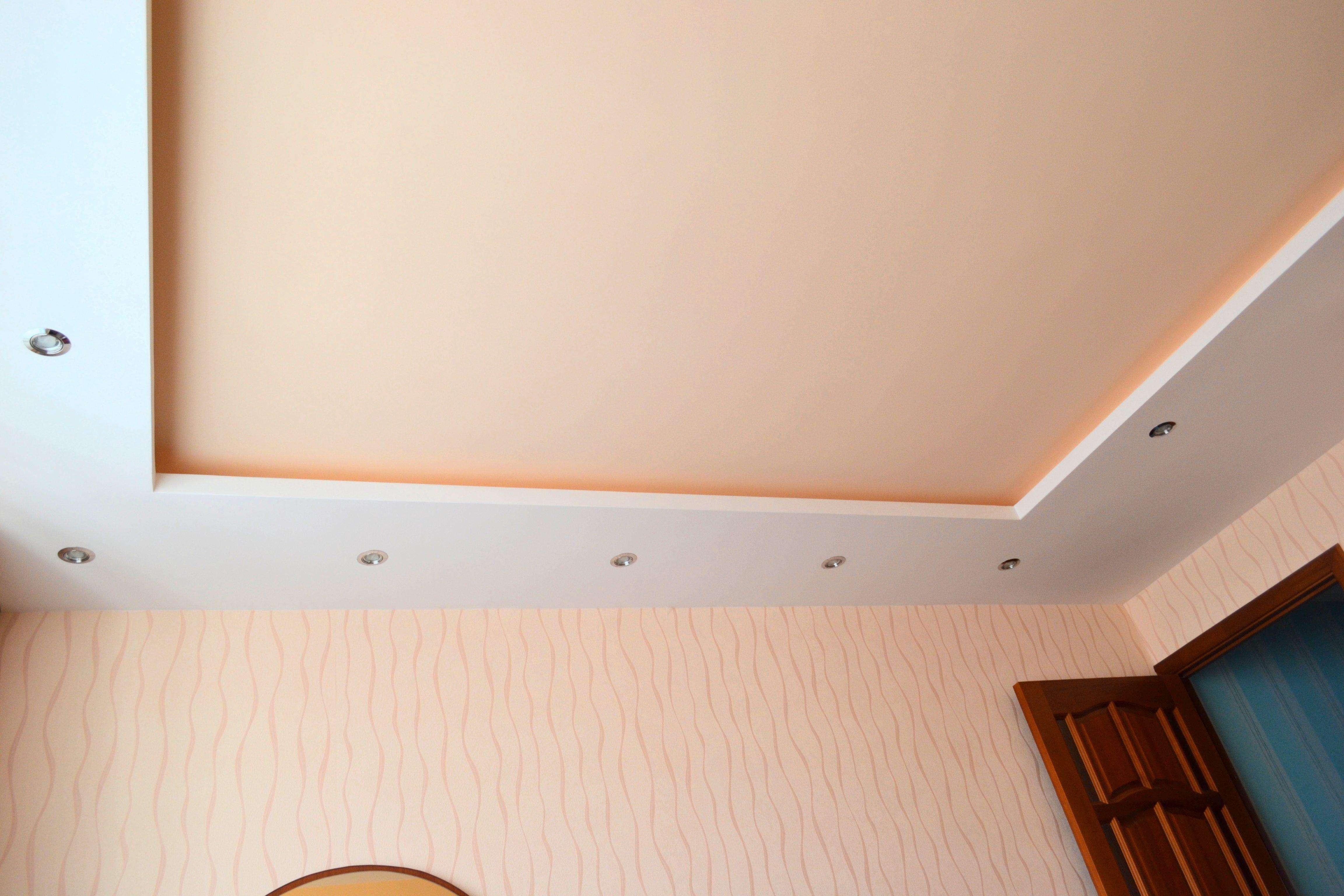 Потолок из гипсокартона своими руками простейший