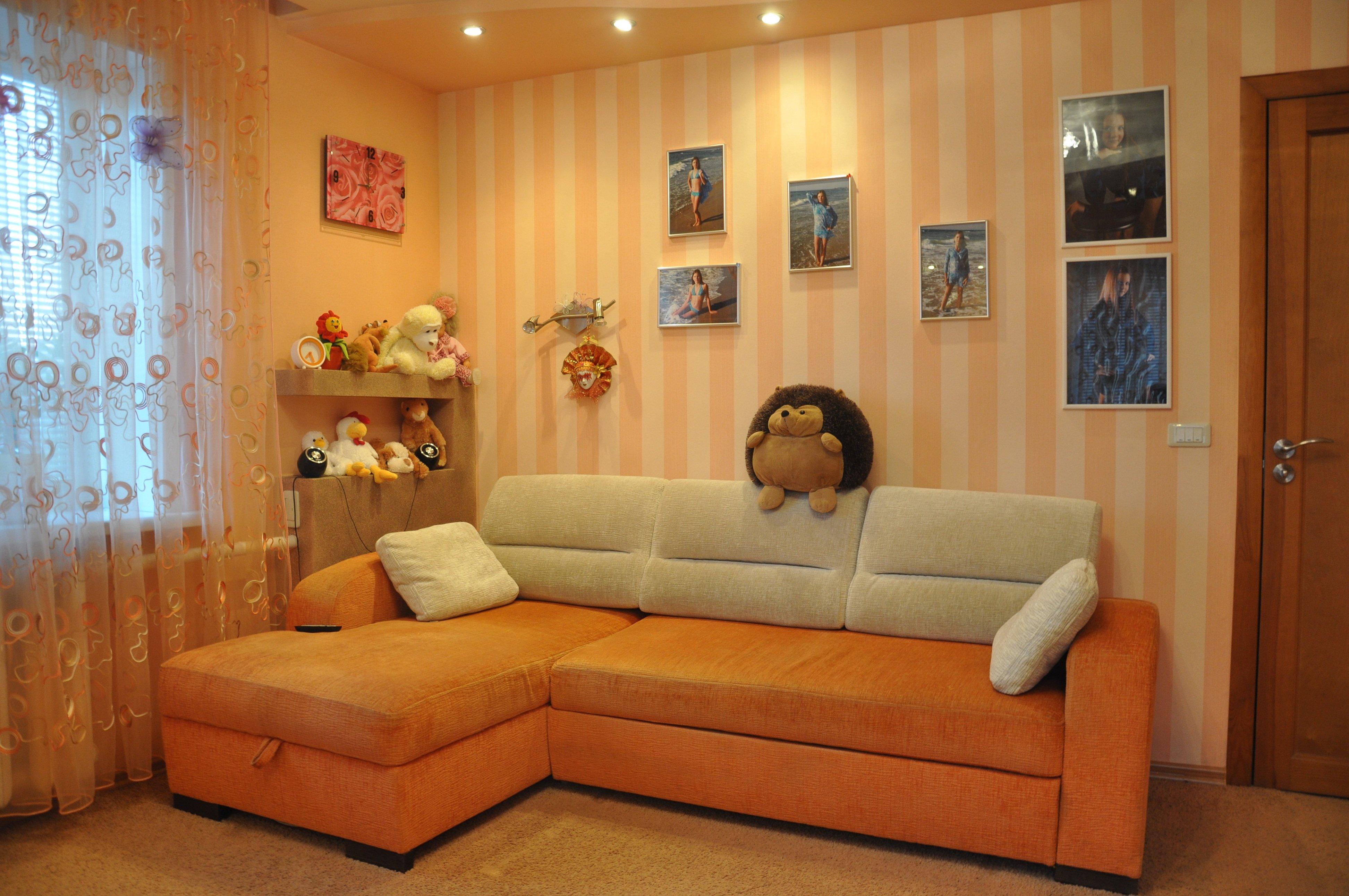 Дизайн комнат в персиковом цвете