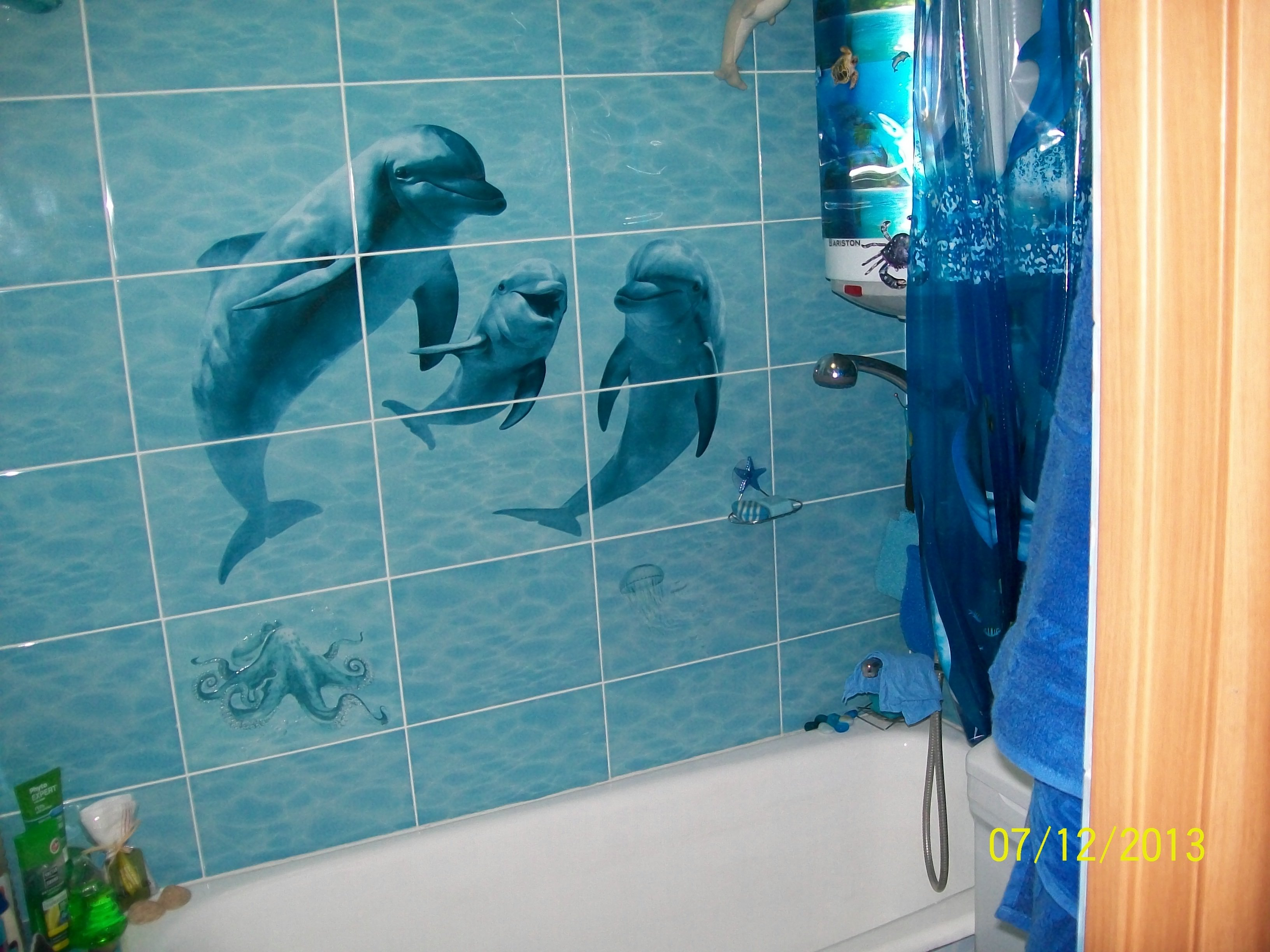 Как сделать из ванной комнаты море